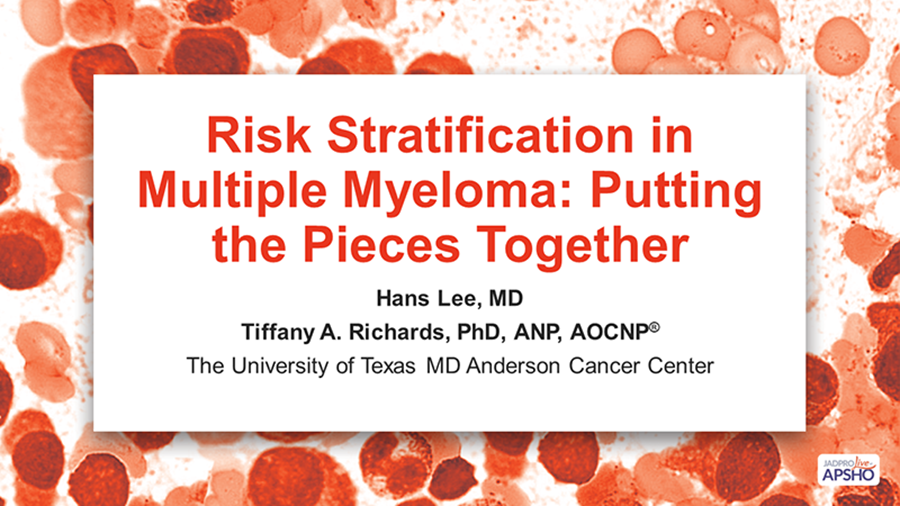 Risk Stratification in Multiple Myeloma: Putting the Pieces Together